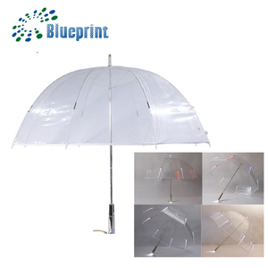 2018 new inventions with led light clear plastic transparent umbrella