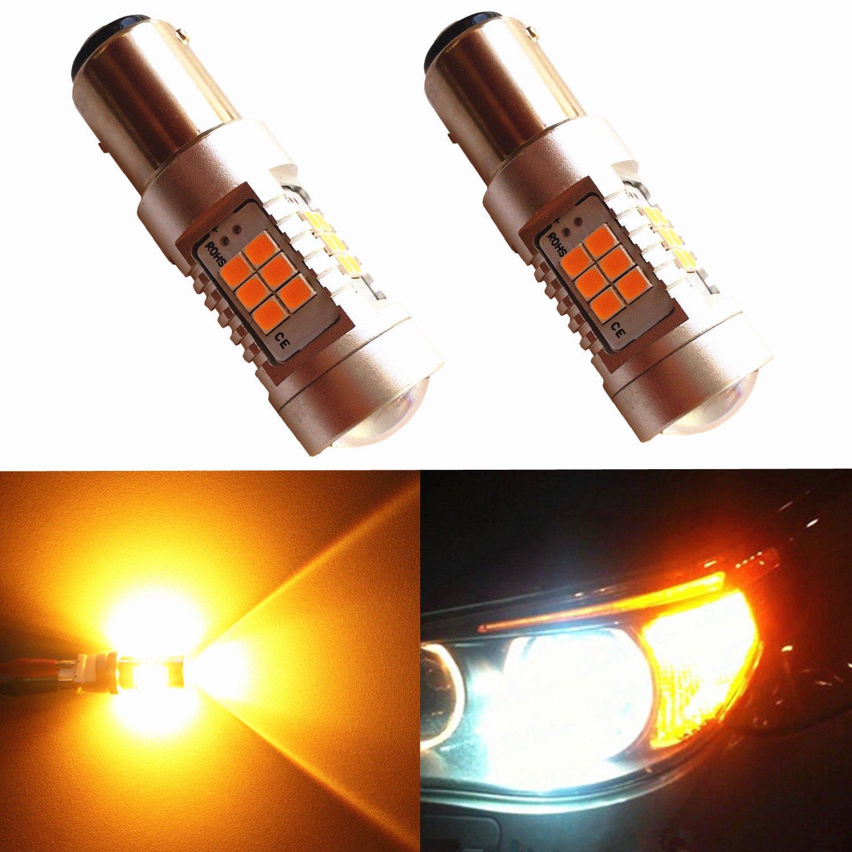 Multicolor Quaant Car Led Light,2x Dual Color White//Amber Switchback 1157 20-SMD 5730 LED Light Bulbs Tail Brake car light bulbs