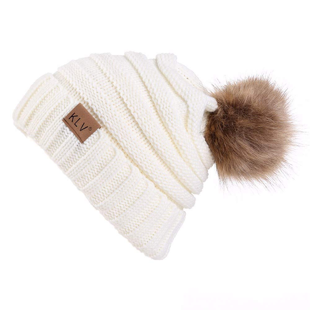 yijiamaoyiyouxia-Hats, Men Women Baggy Warm Crochet Winter Wool Knit Ski Beanie Skull Slouchy Caps Hat