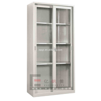 Modern Furniture Steel Sliding Glass Door Chemical Reagents Laboratory Storage Cabinets
