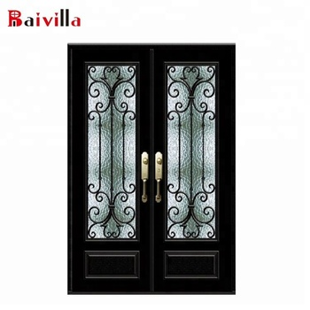 French Style Grill Designs Wrought Iron Double Patio Doors Buy