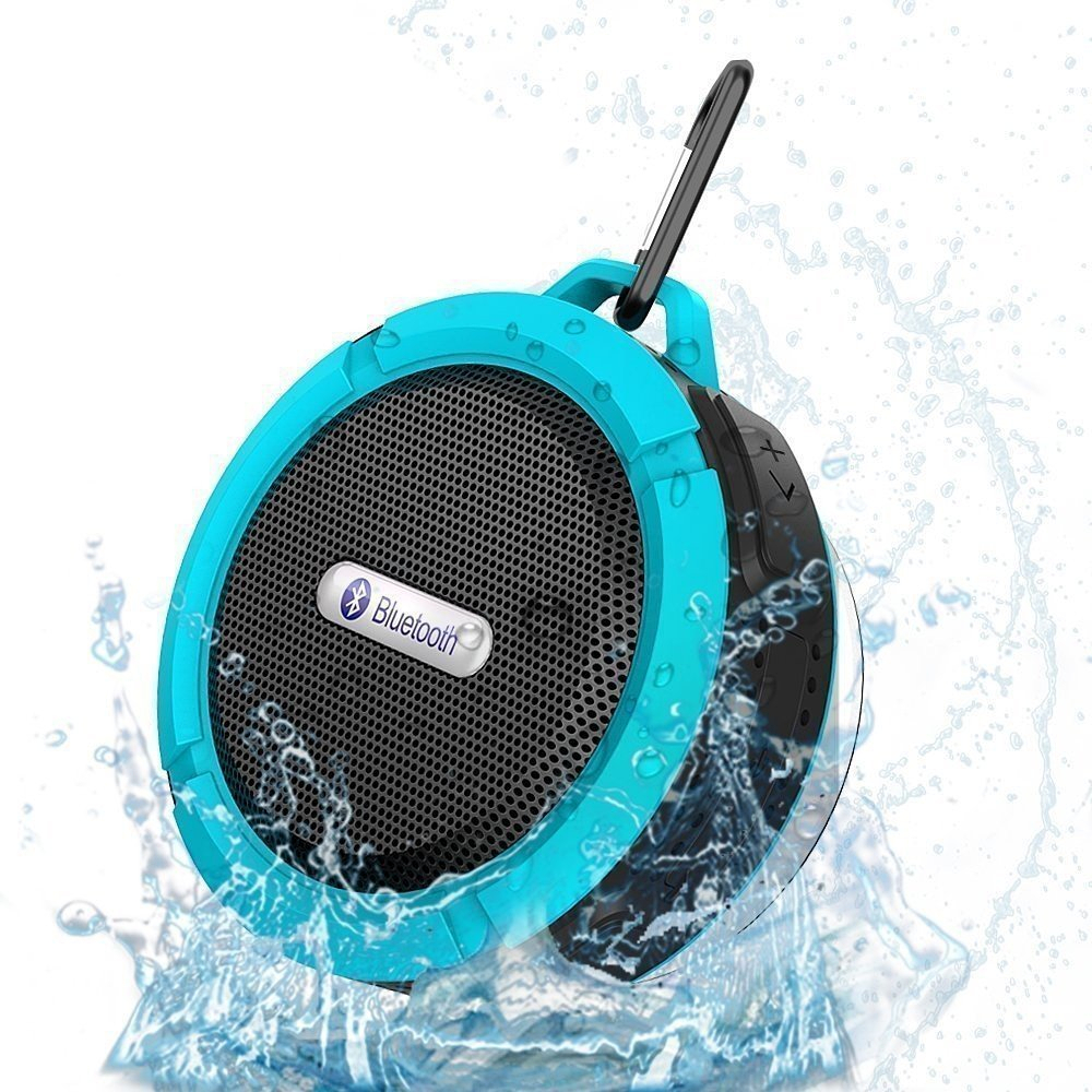 Kolam Renang Outdoor Stereo Bluetooth Wireless Mini Portable Shower Tahan Air Speaker dengan Penyedot