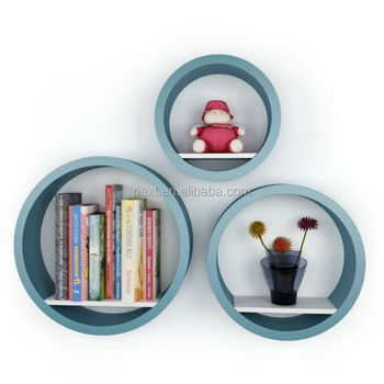 Set 3 mdf round wall shelves buy round wall shelves mdf - Etagere murale ronde ...