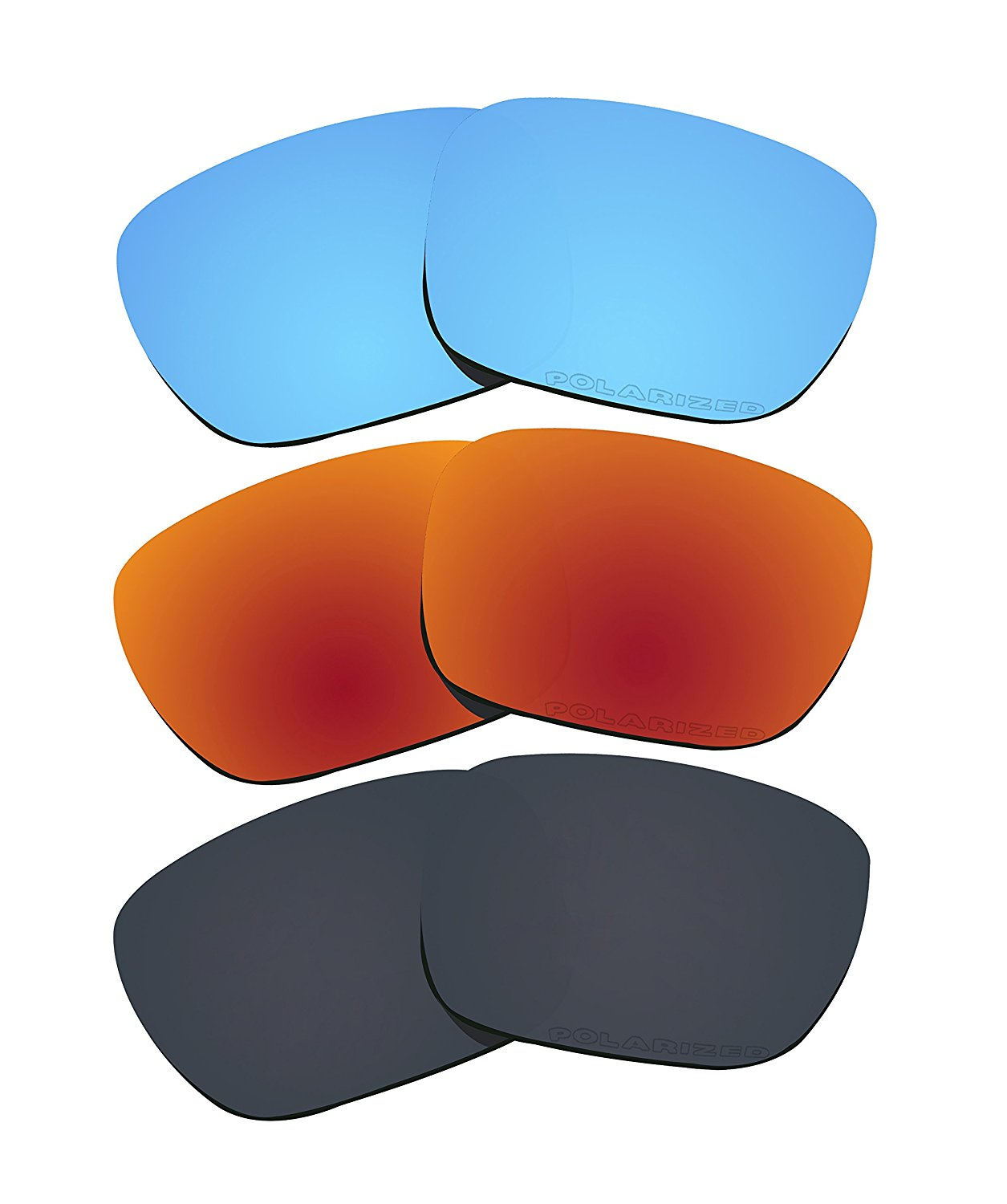 4f57615e2e Get Quotations · 3 Pairs Polarized Lenses Replacement for Oakley Holbrook  Sunglasses T4
