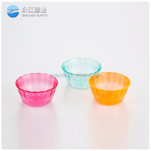 wholesale plastic kids bowls and plates 8pcs rainbow bowl silicone collapsible bowl for camping