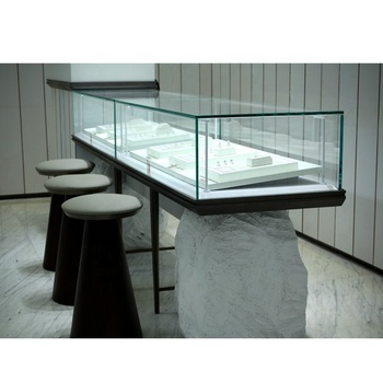 Custom Design Commercial Jewelry Display Counter With White Stone