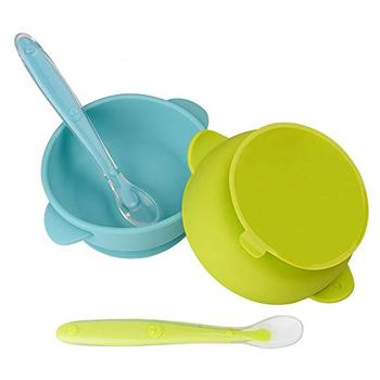 Healthy eco-friendly silicone baby feeding bowl for kids and toddlers with improved super suction base