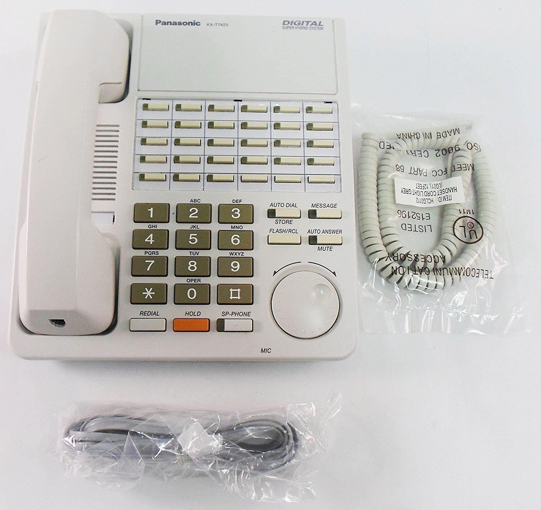 Panasonic KX-T7425 24 Button Non-Display Phone W/ Speakerphone - Refurbished (White)