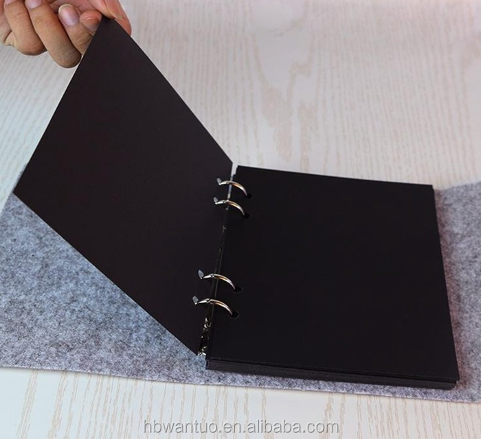 Handmade personalized DIY loose-leaf felt album