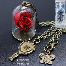 Hot sale latest Beauty and the beast anime decorative necklace