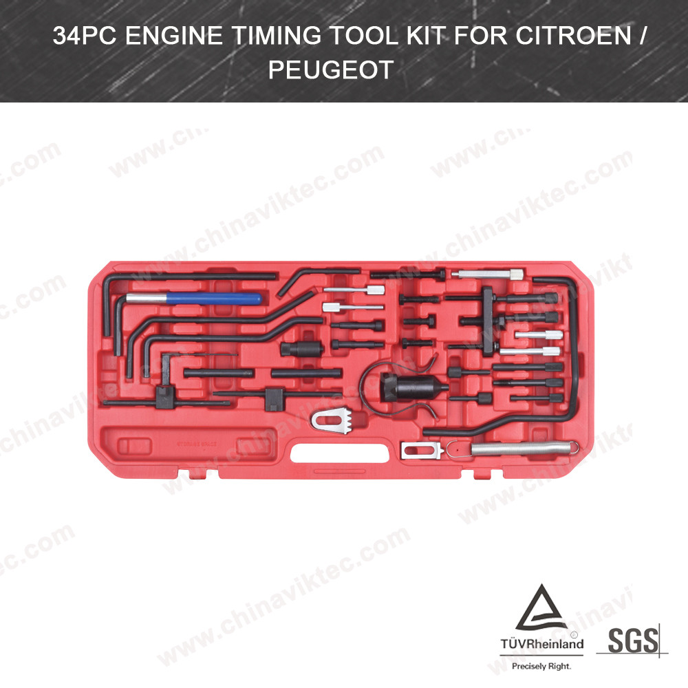 Auto Tool 34pcs Car Engine Timing /holding/locking Tool Set For Citroen / Peugeot(VT01084)