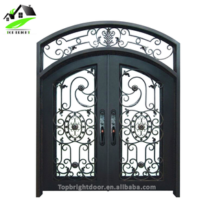Iron Main Entrance Doors Grill Design Wholesale Door Grille