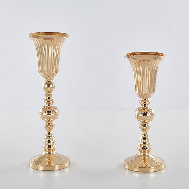 striation flower vase for wedding decoration