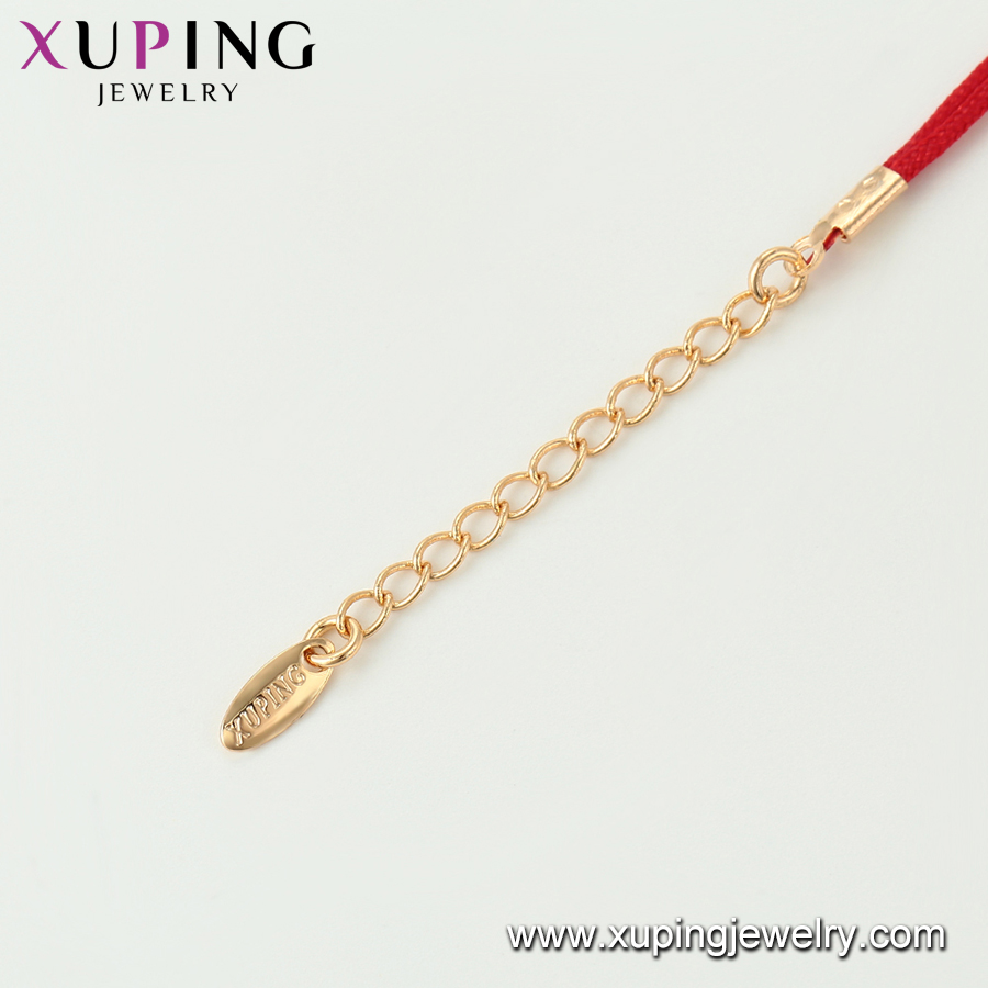 75582 Xuping Jewelry Hot Sale Women Elegant gold plated red rope Bracelet for gift
