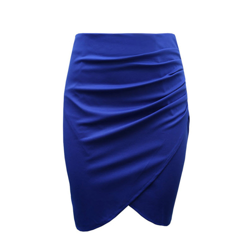 7ded1b0da74 Get Quotations · Fashion Summer Style Women s skirts High Waist Stretch  Draped Asymmetric Ruched Sexy Pencil Skirt Plus Size