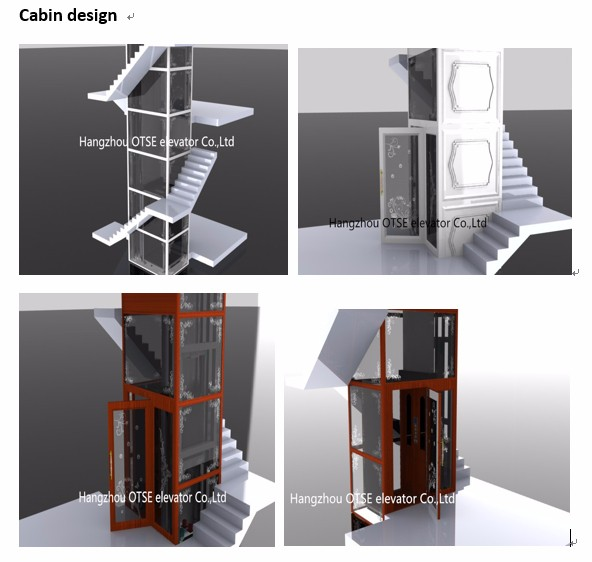House used 4 person home lift elevator with good elevator for Elevator for home prices