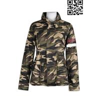 Fashion Camouflage Women Waterproof Coat Dress Jacket