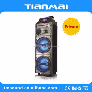 Private trolley wooden Speaker with monitor display and double 10 inch woofer manufacturer