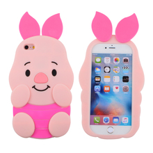 Wholesale Custom Make Animal Silicone Shockproof High Impact Protective Cases For Iphone 6 Plus