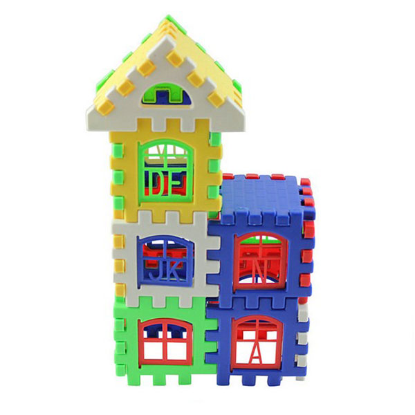 High Quality Cheap DIY Craft Gift House Building Blocks Coroful Toys for Children Kids free shipping