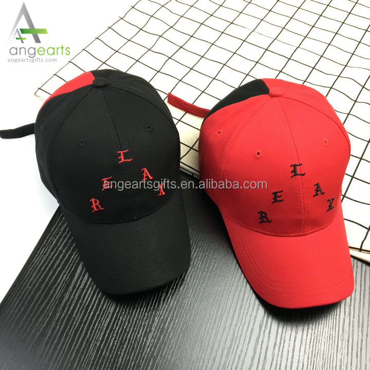 High Quality Cotton Embroidery 6 Panel hip hop cap hat New Style Promotion Cheap Color Matched Baseball Cap