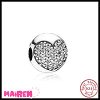 MOQ 1pc 2017 amazon wholesale antique silver heart beads charms 925 sterling silver jewellery