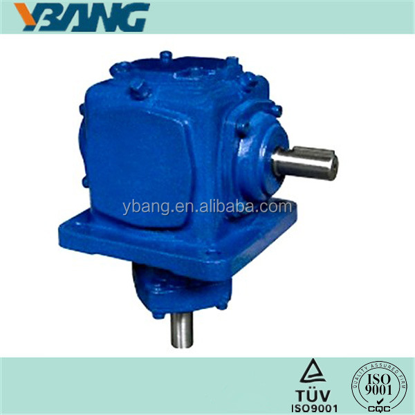 Shafts Right Angle Gearbox Speed Reduction Ratio 1:1