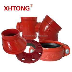 Ducitle Iron Grooved Pipe Fittings with UL FM approvals