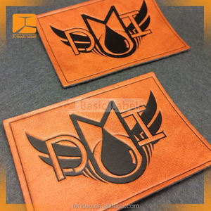 Newest Cheap Custom Embossed Leather Metal Labels for Jewelry
