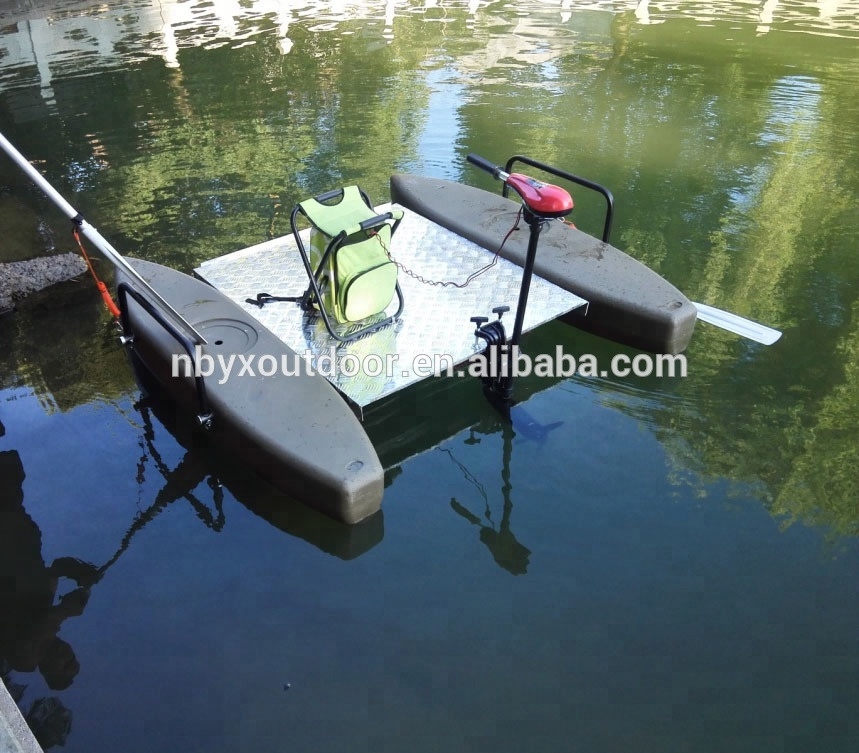 2017 new design hand free foot pedaldrive fishing kayaks pontoon <strong>boat</strong>