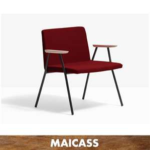 Modern metal seat with tube steel rob structure dining chair