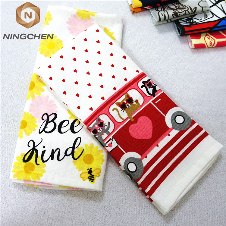 hot sale towels Cotton Yarn-dyed Check Stripe Dishtowel Kitchen Cleaning Cloth Tea Towel