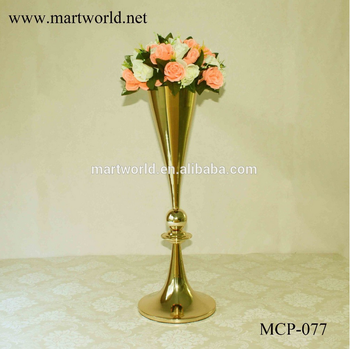 Miraculous Champagne Gold Vase With Wedding Pillars Centerpiece For Wedding Flower Vase With Party Event Vase Decoration Stand Mcp 077 Buy Centerpiece Download Free Architecture Designs Scobabritishbridgeorg