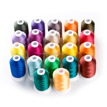 1100 yards 100% polyester machine embroidery thread