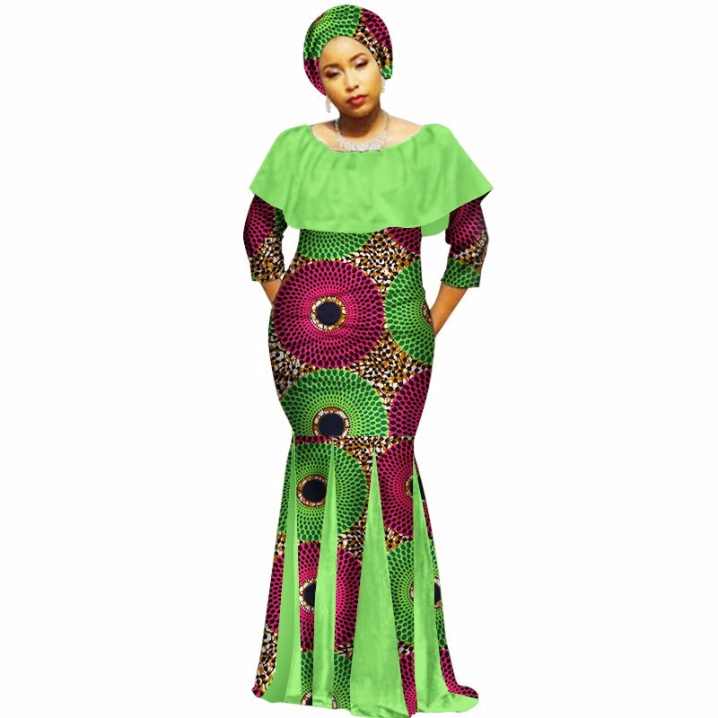 f98d0a1b90b 2018 Autumn Robe Africaine Femme Dashiki Dresses Ethnic Plus Size 6XL African  Traditional Dresses Print 6xl Free Headtie WY2116