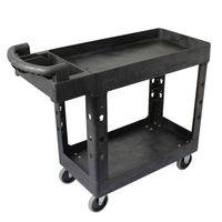 Two tray handle plastic service trolley cart Utility cart