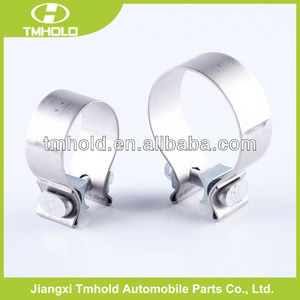 Stainless steel or galvanized steel exhaust rod house clamp sizes with 18mm bandwidth
