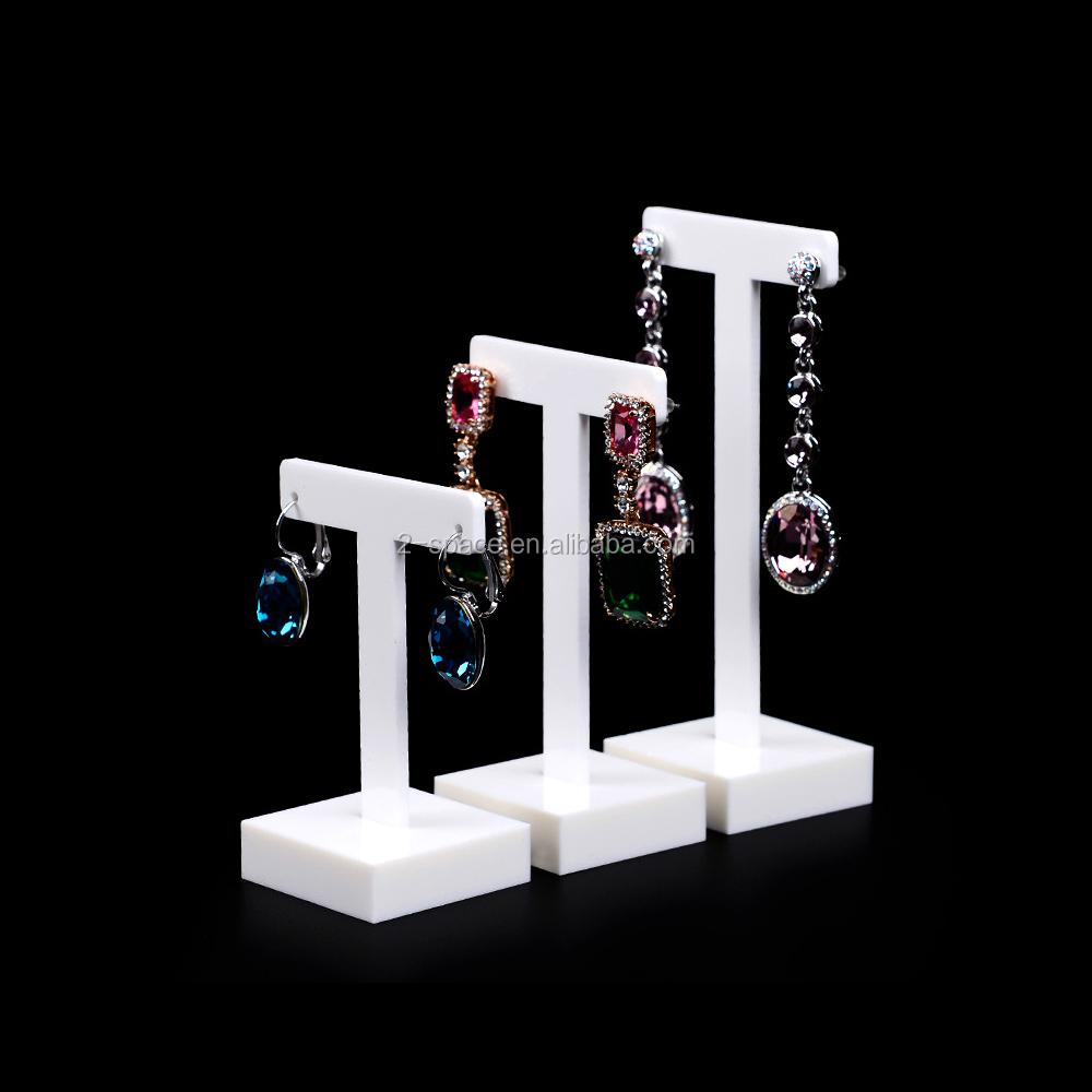 New Jersey Shape Earrings White Acrylic Laser Cut Plastic State Jewelry