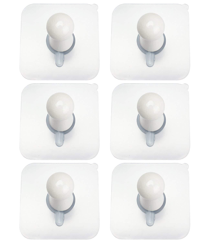 Amariver 3M Adhesive Wall Hooks Wooden Hat Hooks, 6 Pack No Drills Wall Mounted Wooden Hat Hooks Storage Coat Hanging Hook for Coat Towel Hat Key Robe Hooks On Door Wardrobe (Color 3)