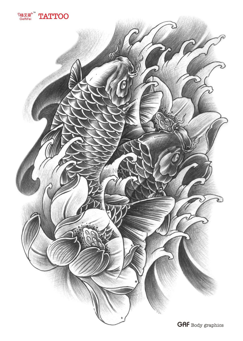 Cheap lotus flower tattoo wrist find lotus flower tattoo wrist get quotations 3 pcslot 153220mm tattoo koi lotus flower arm tattoo traditional tattoo stickers izmirmasajfo