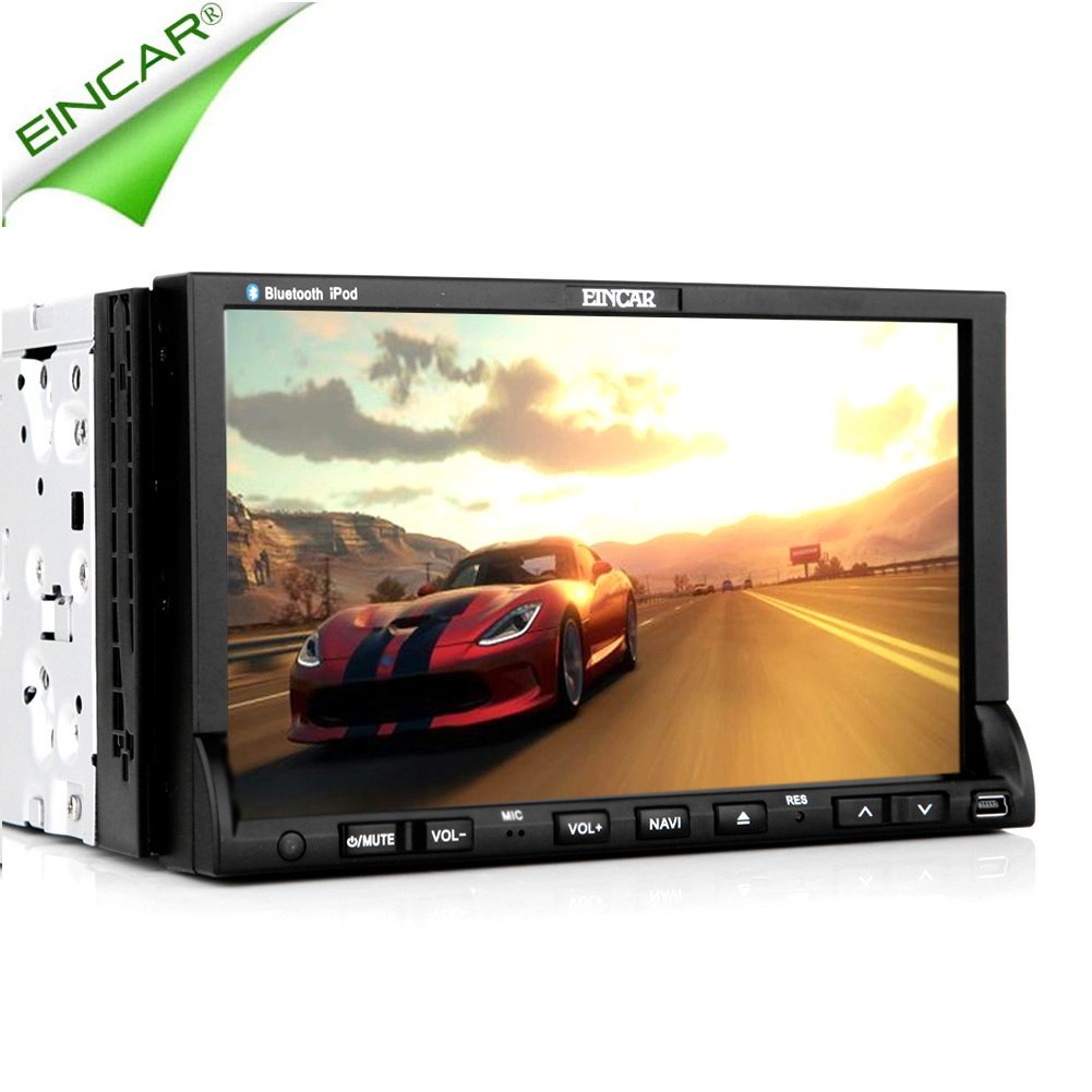 EinCar GPS Navi In Dash Car DVD Player Universal Double Din Size Head unit stereo audio Video Movie Receiver Remote control iPod multimedia System Capacitive Car Radio
