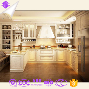 2015 Prefabricated American Solid Wood L Shape Kitchen Island Cabinet With  Drak Wooden Color Hot Sale Usd - Buy Prefabricated Kitchen Island,Kitchenc  ...