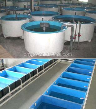 Fiberglass high quality ras aquaculture tanks for fish for Aquaculture fish tanks