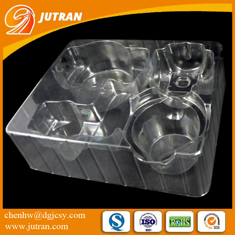 2017 Professional Customized Plastic Clear Transparent Clamshell Blister Tray