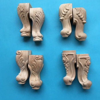 Carved Wooden Table Leg Furniture Foot