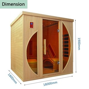 Two Person Far Infrared Sauna Room Wooden Infrared Sauna Room With Sauna Accessories
