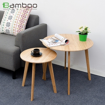 Pleasant Modern Small Round Hotel Bedroom End Table With Coffee Table Set Water Base Lacquer Bamboo End Table For Sofa Buy Bedroom End Table Lacquer End Home Interior And Landscaping Ologienasavecom