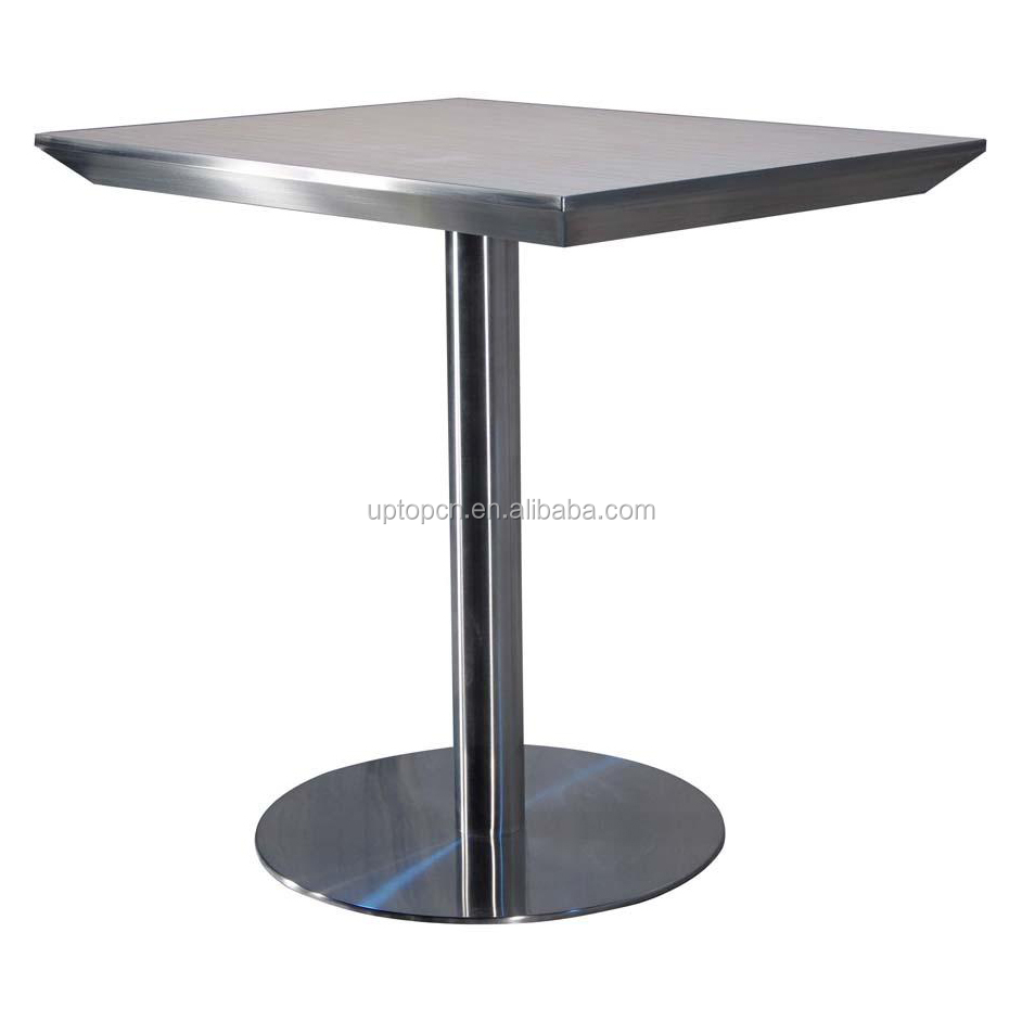 Square restaurant tables - Stainless Steel With Laminate Table Top Square Used Restaurant Dining Tables Sp Rt191