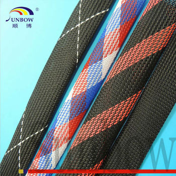 Wear Resistance Pet Expandable Braided Cable Sleeve Fabric Cable ...