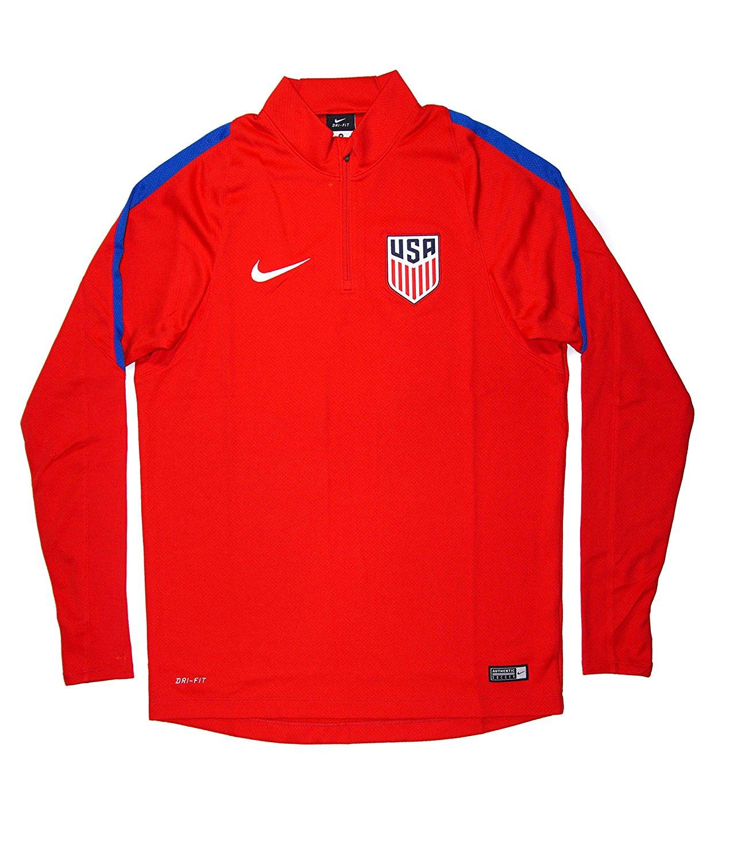 4118562d8 Get Quotations · Authentic Men s USA National Team Squad Drill Quarter Zip  Midlayer Jacket